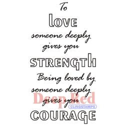 Love Strength Courage - Deep Red