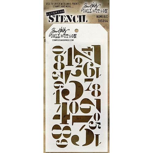 Numeric Layering Stencil