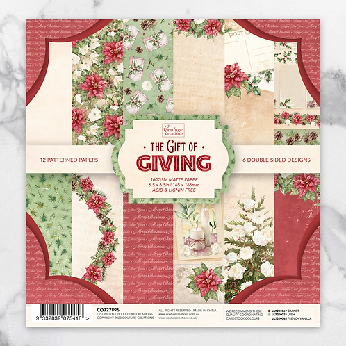 The gift of Giving 6.5 x 6.5