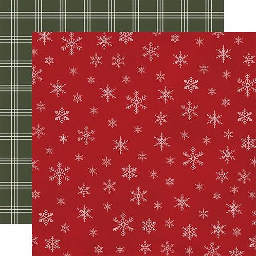 Snowflakes 12 x 12 Farmhouse Christmas