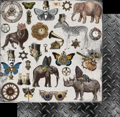 Ephemera King Steampunk Safari