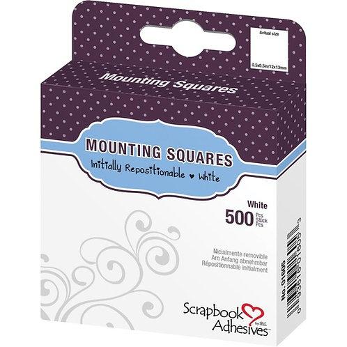 500 White Mounting Squares