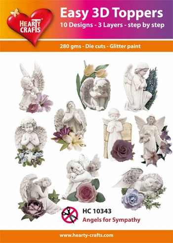 Angels for Sympathy 3D Toppers