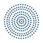 2mm Deep Blue Adhesive Pearls