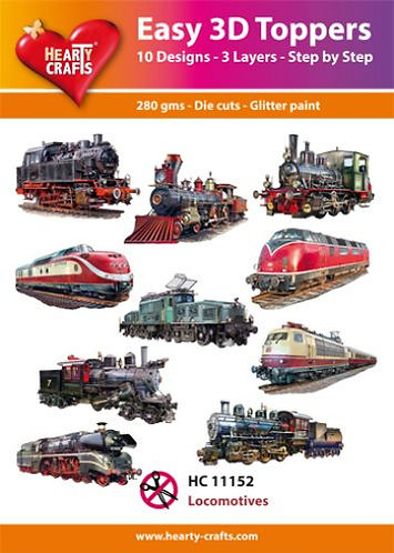 """EASY 3D TOPPERS """"LOCOMOTIVES"""""""