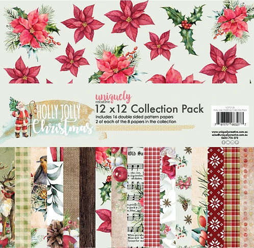 Holly Jolly 12 x 12 Paper Pack