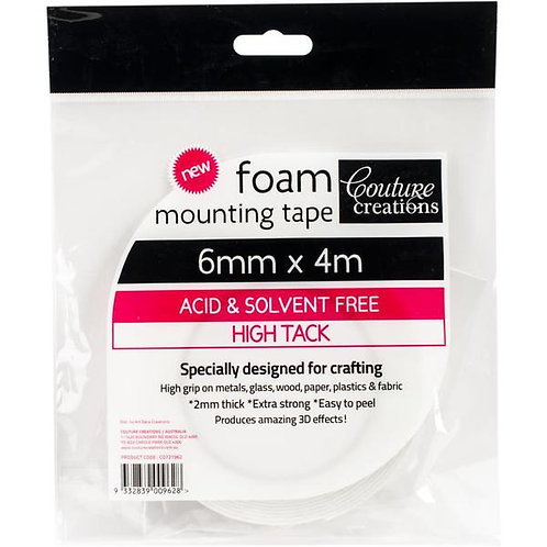 Foam Mounting Tape 6mm x 4m - Couture Creations