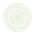 2mm Soft Green Adhesive Pearls