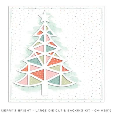 Large Die Cut & Backing Sheet Merry & Bright