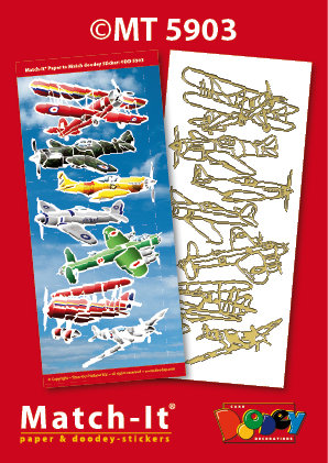 Vintage Planes Match-it Stickers