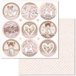 Little Girl Round Paper