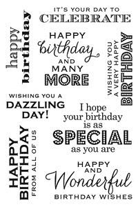 Birthday Messages Stamp - Hero Arts