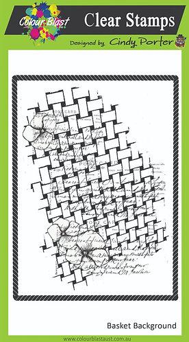 Basket Background Stamp