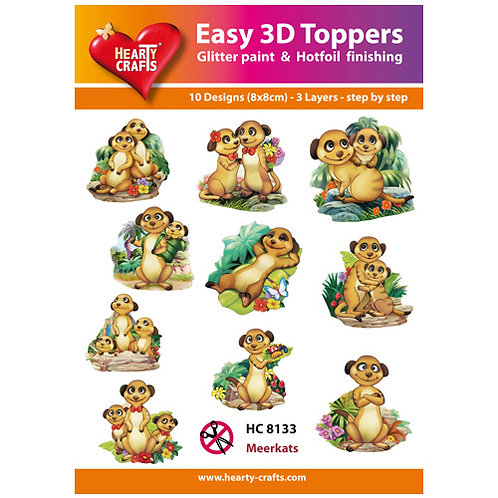 Meercats 3D Card Toppers