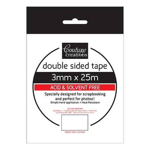 Double Sided Tape 3mm x 25m - Couture Creations