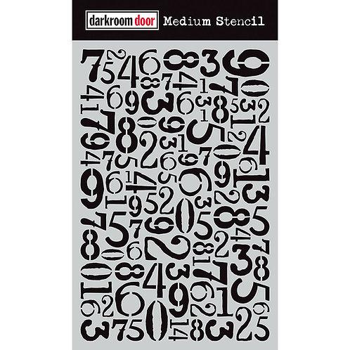 Number Jumble Stencil Darkroom Door