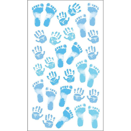 Pastel Baby Boy Prints Stickers
