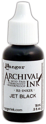 Jet Black Re-Inker - Archival Ink