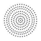 2mm Deep Silver Adhesive Pearls