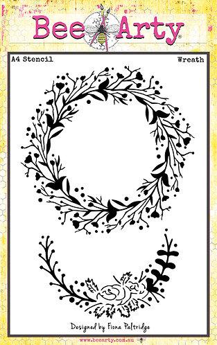 Wreath A4 Stencil