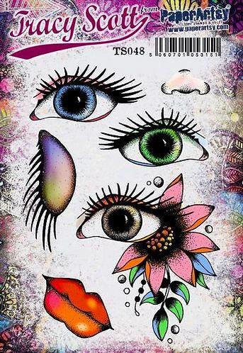 TS048 eyes stamp