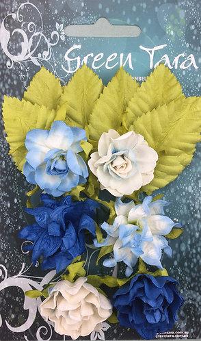Bright Blue Tea Roses