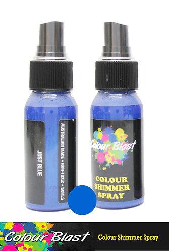 Just Blue Shimmer Spray - Colour Blast