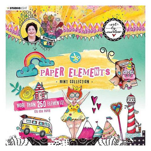 Marlene's World Mint Paper Elements