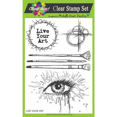 Live Your Art Stamp
