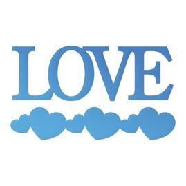 Love Sentiment & Heart Border Mini Die