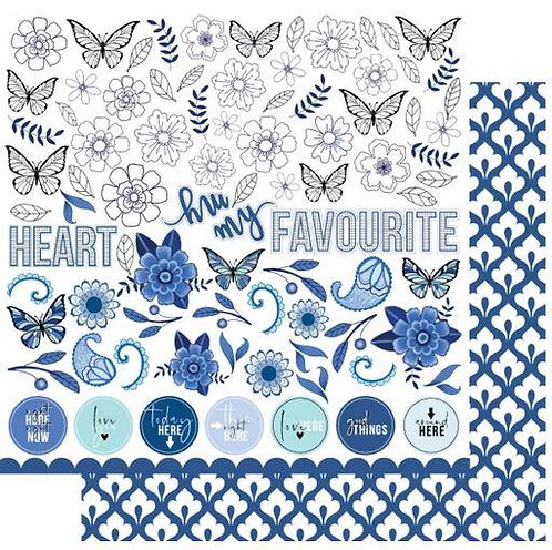 My Favourite Blue Fussy Cuts