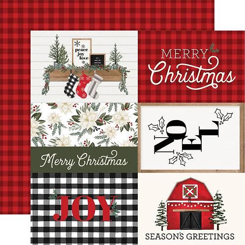 Journalling Cards 12 x 12 Farmhouse Christmas