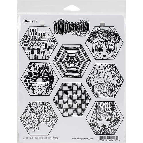A Heck of Hexies Stamp