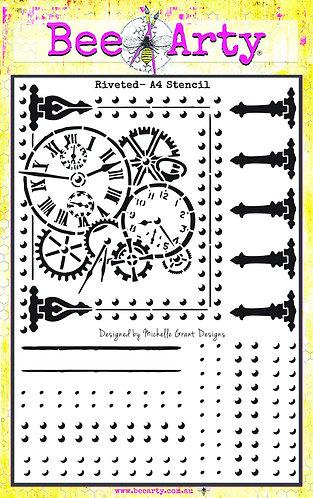 Time Flies large A4 stencil