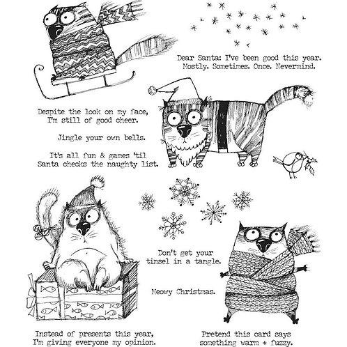 Snarky Cat Stamp