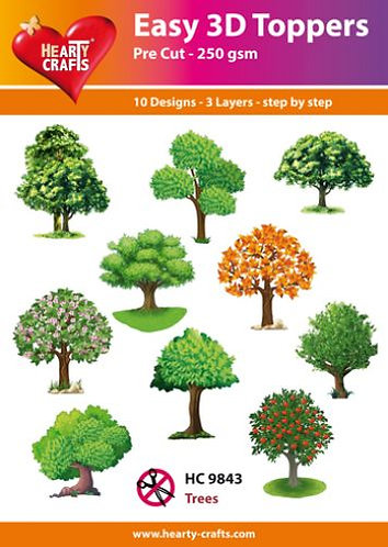 """EASY 3D TOPPERS """"TREES"""""""