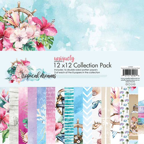 "UNIQUELY CREATIVE PAPER PACK ""TROPICAL DREAMS"""
