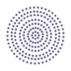2mm Vintage Blue Adhesive Pearls