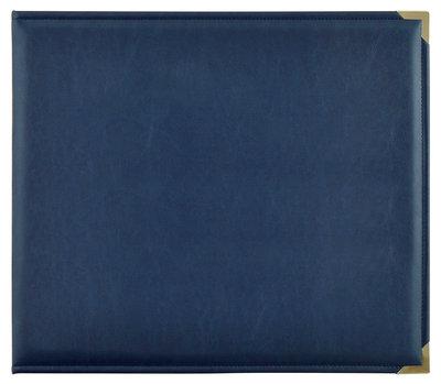 "D-Ring Album Leather ""Navy"""