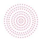 2mm Deep Pink Adhesive Pearls