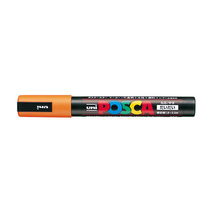 Orange PC-5M Posca Paint Pen