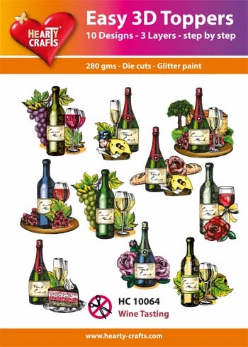 Wine Tasting 3D Card Toppers