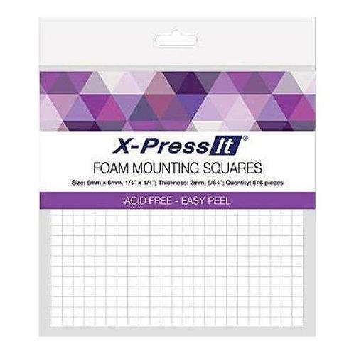 X-PRESSIT FOAM MOUNTING SQUARES 6MM X 6MM 576 PCS