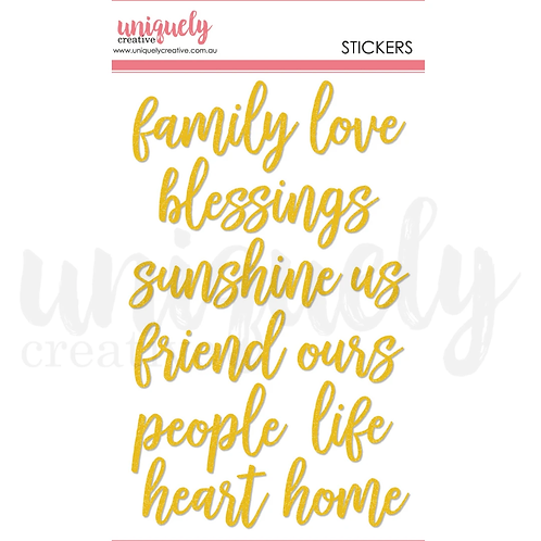 TITLE STICKERS -family