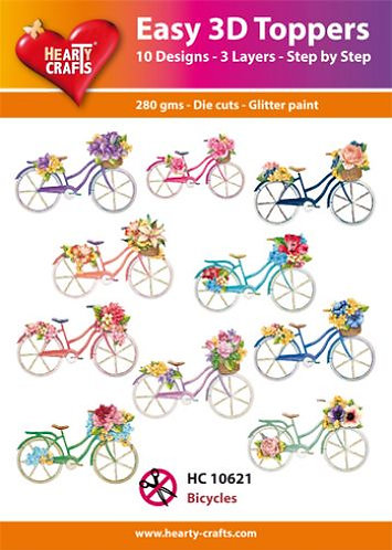 "EASY 3D TOPPERS ""BICYCLES"""