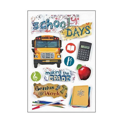 School Days 3D Stickers