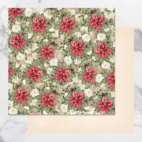 Poinsettia Bo Bunny 12 x 12 Paper
