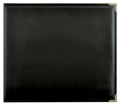 """D-Ring Album Leather """"Black"""""""