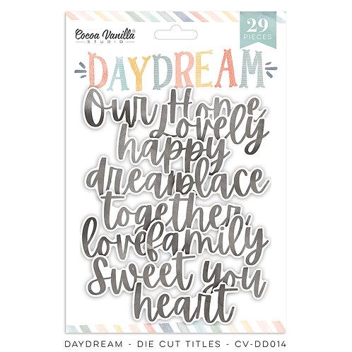 Day Dream Die Cut Titles Cocoa Vanilla