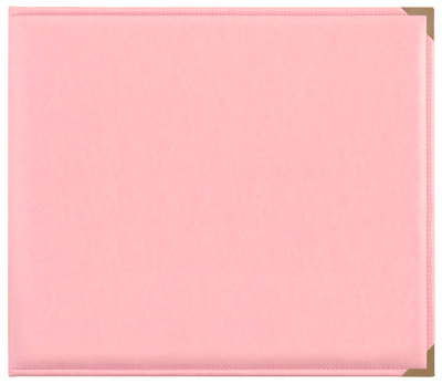 """D-Ring Album Leather """"Pink"""""""